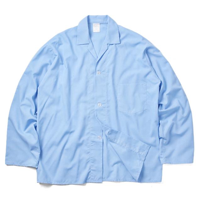 実物 新品 イギリス軍スリーピングシャツ ライトブルー