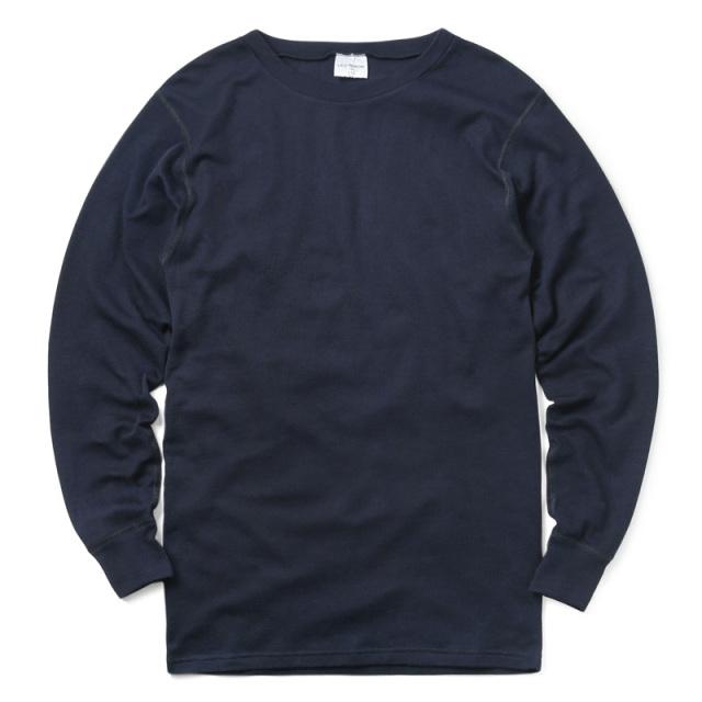 実物 新品 フランス海軍 FIRE RETARDANT L/S クルーネック Tシャツ SOLID