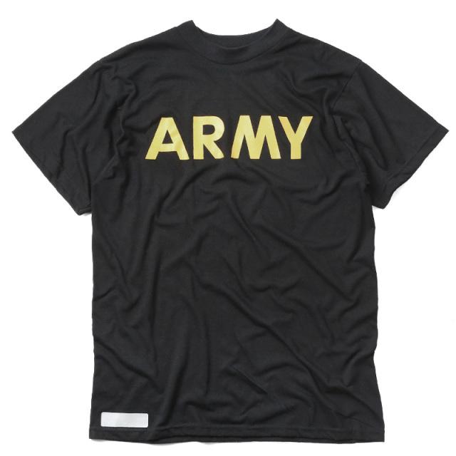 実物 USED 米軍 U.S.ARMY ブラック トレーニングTシャツ