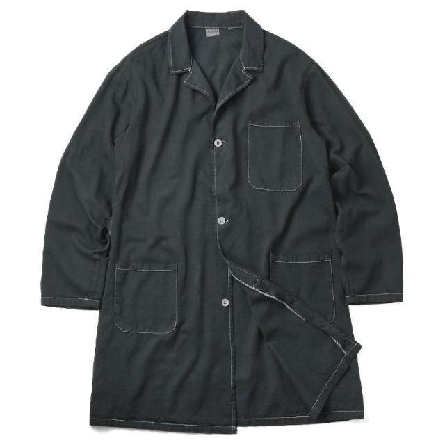 実物 新品 イタリア軍 コットンツイル ワークコート BLACK染め