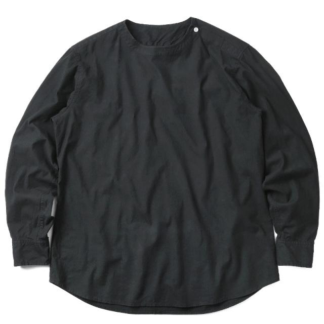 実物 新品 ルーマニア軍 スリーピングシャツ BLACK染め