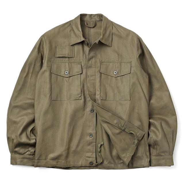 実物 新品 チェコ軍 フライフロント ワークシャツ