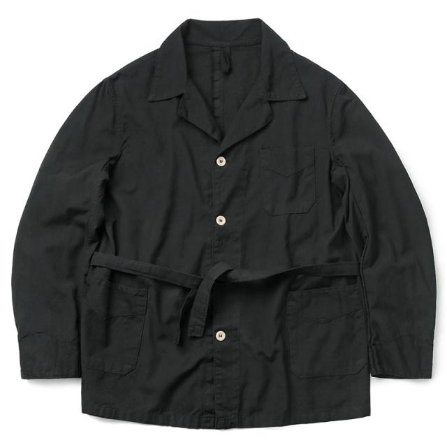 実物 新品 ギリシャ軍 コットン スリーピング シャツジャケット BLACK染め