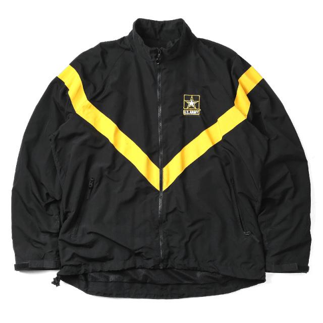 実物 USED 米軍 U.S.ARMY BLACK APFU トレーニングジャケット