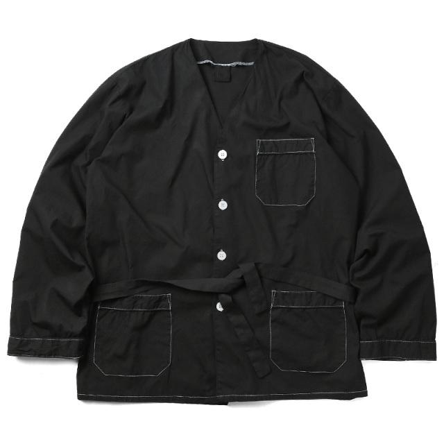 実物 新品 イタリア軍 スリーピングシャツ BLACK染め