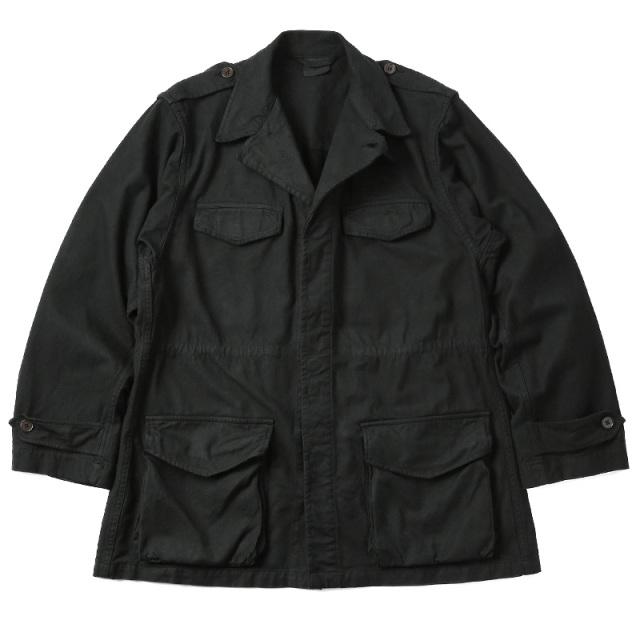 実物 新品 フランス軍 AIR FORCE GENDARME M-47 フィールドジャケット BLACK染め