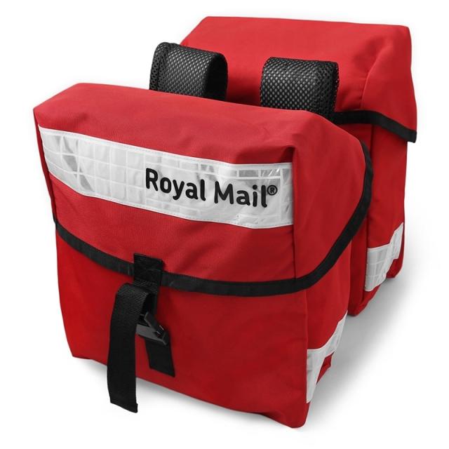 実物 USED イギリス ROYAL MAILバッグ ホワイトリフレクター 2個セット