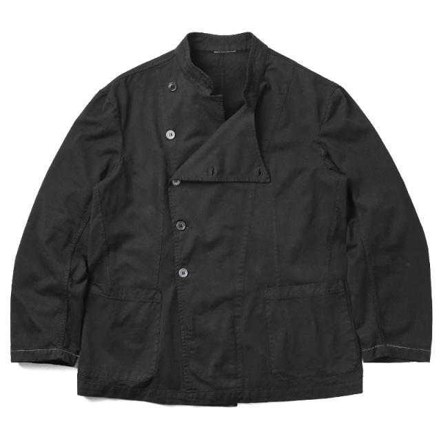 実物 新品 イタリア軍 コックジャケット BLACK染め