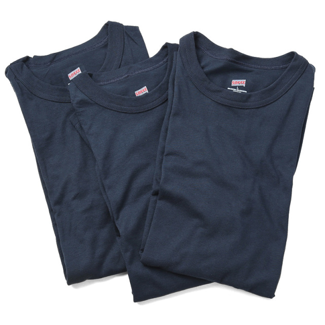 MADE IN USA SOFFE製 新品デッドストック 米軍使用 U.S. NAVY Tシャツ 3PACKS