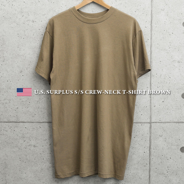 実物 新品 米軍 DESERT CAMO用 BROWN Tシャツ MADE IN USA