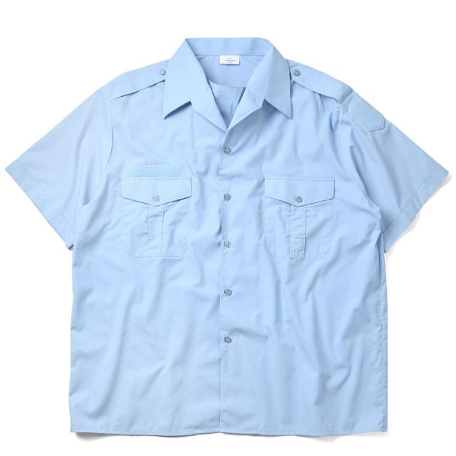 実物 新品 デッドストック フランス軍 1980's 憲兵隊 ポリスシャツ 半袖