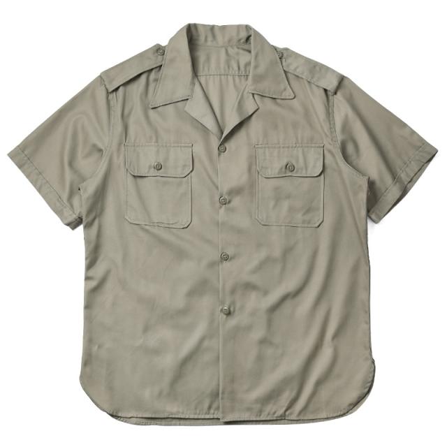 実物 新品 デッドストック ギリシャ軍 チノシャツ 半袖