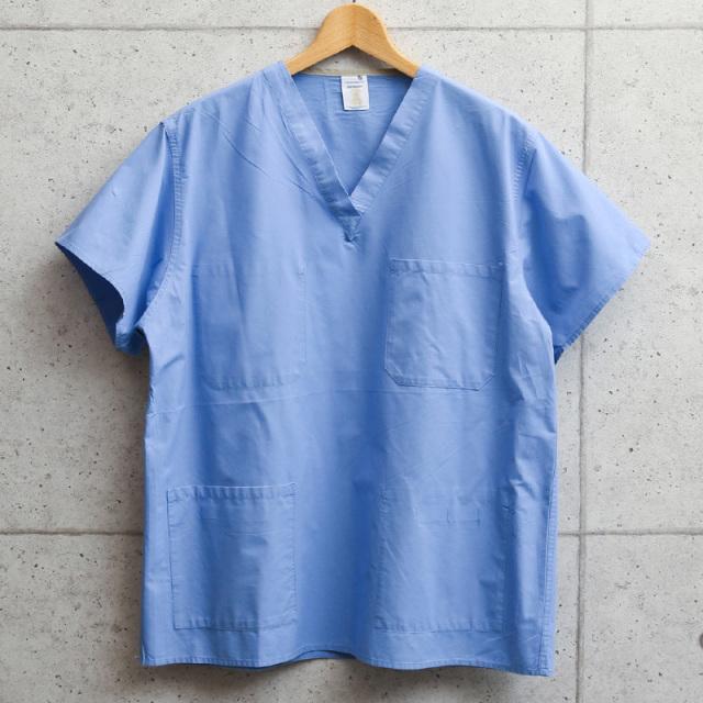 サープラス業者放出品 米軍使用 BLUE SCRUB シャツ