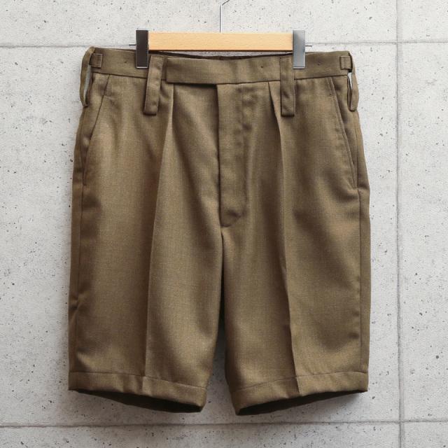 実物 新品 イギリス陸軍 ALL RANKS BARRACK DRESS オフィサーショートパンツ ブラウン