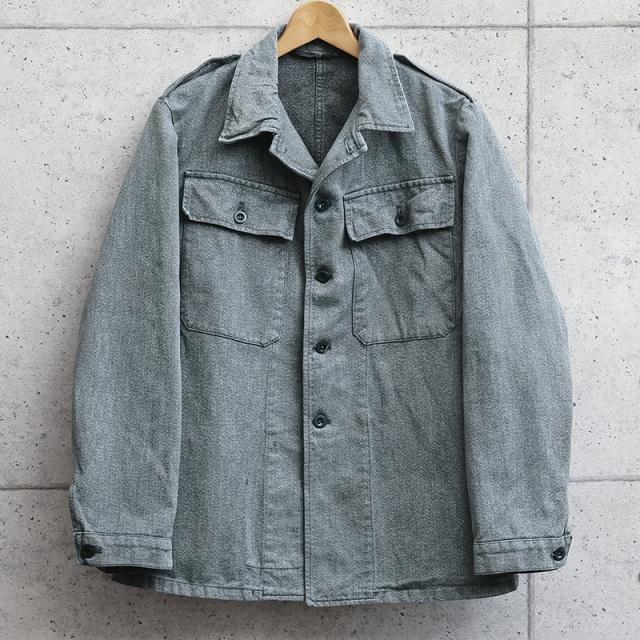 実物 USED スイス軍 後期型 デニムワークジャケット