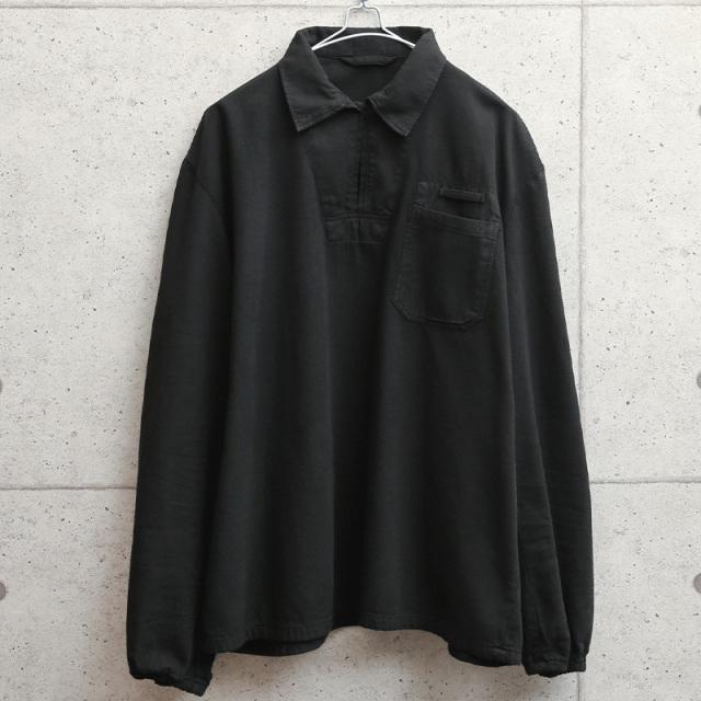 実物 新品 デッドストック チェコ軍 HBT プルオーバーワークシャツ BLACK染め