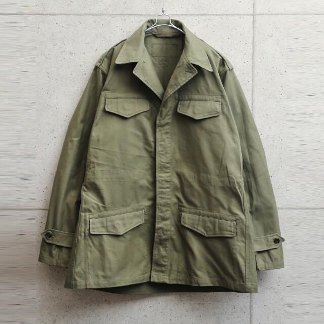 実物 USED フランス軍 M-47 フィールドジャケット 前期型 コットン製 #2