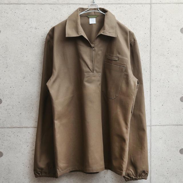 実物 新品 デッドストック チェコ軍 プルオーバーワークシャツ ブラウン
