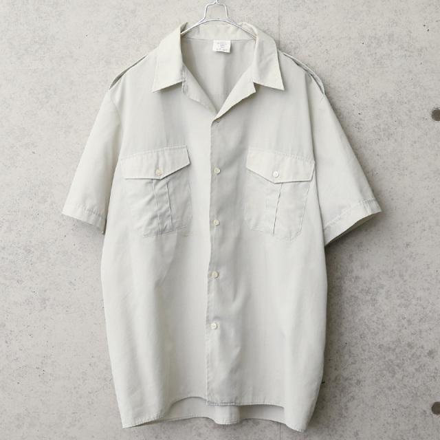 実物 USED フランス軍 ショートスリーブ オフィサーシャツ