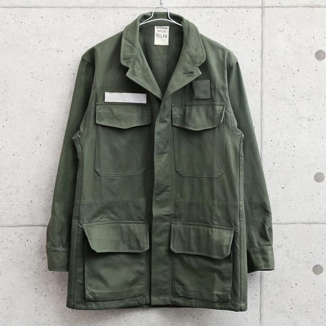 実物 新品 デッドストック フランス軍 AIR FORCE COMBAT フィールド ジャケット フライフロント