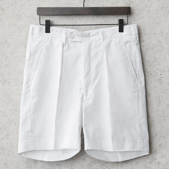 実物 新品 デッドストック スウェーデン軍 コットン ホワイト ショートパンツ