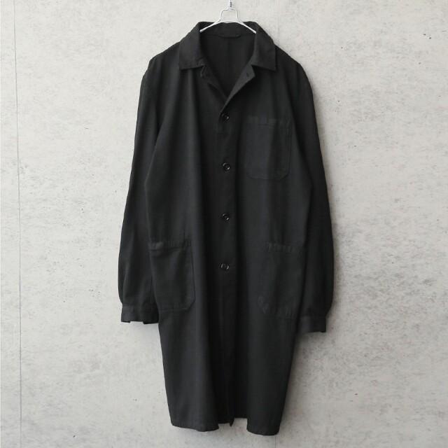 実物 USED チェコ軍 ワークコート BLACK染め