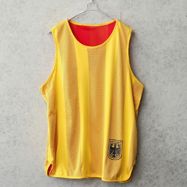 実物 USED ドイツ軍 リバーシブル メッシュ スポーツシャツ イーグルロゴ