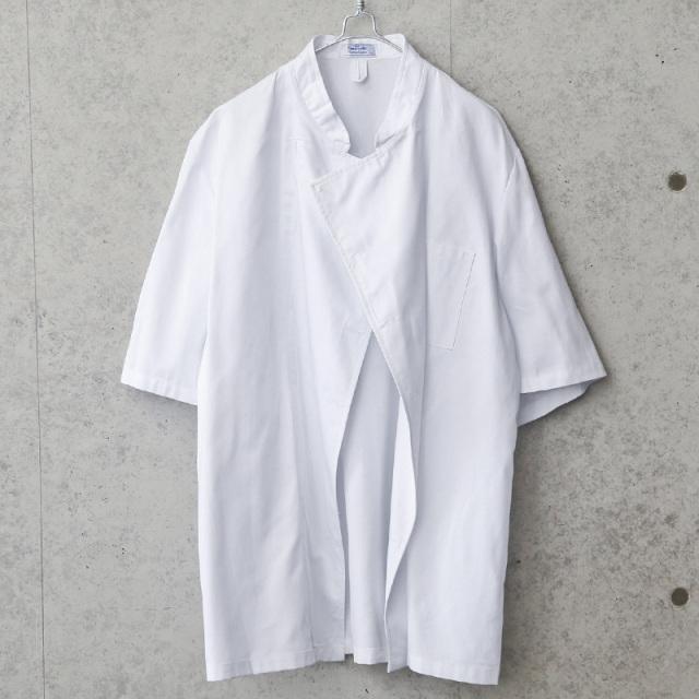 LEIBER社製 ホワイト ボタンレス シェフジャケット 半袖