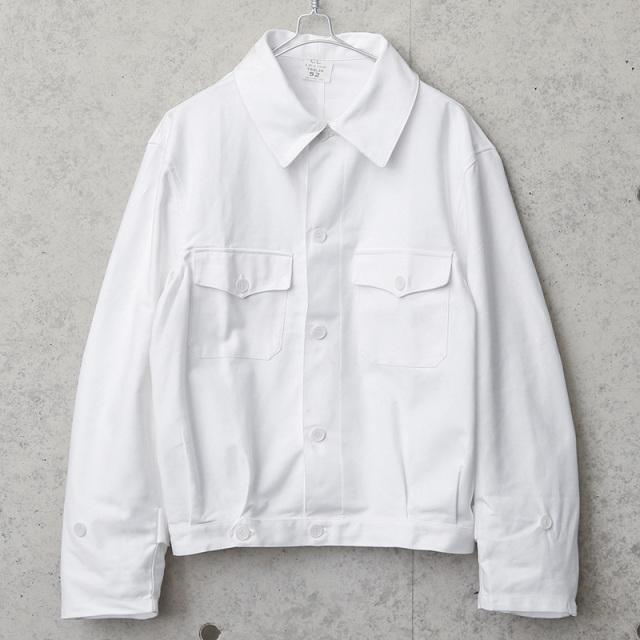 実物 新品 デッドストック イタリア軍 ショートワークジャケット ホワイト