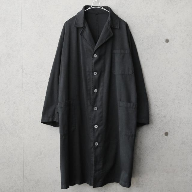 実物 新品 イタリア軍 ヘヴィーコットンツイル ワークコート BLACK染め