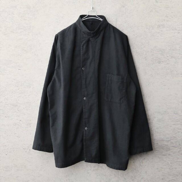 実物 新品 デッドストック 米軍 MEDICAL フランネル スリーピングシャツ BLACK染め
