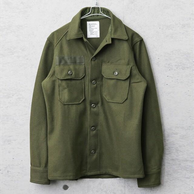 実物 新品 デッドストック 米軍 ヴィンテージ ウールシャツ OG-108 後期型