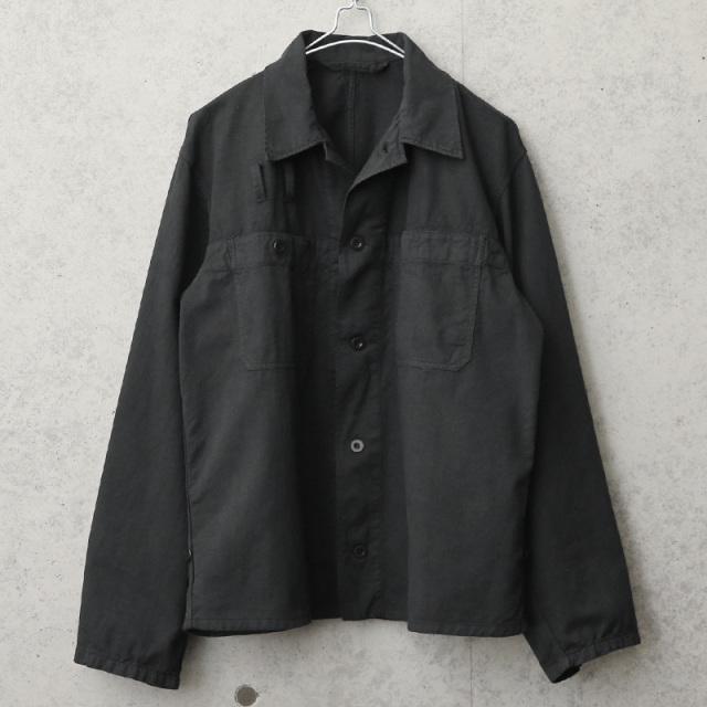 実物 新品 デッドストック チェコ軍 ユーティリティーワークジャケット BLACK染め