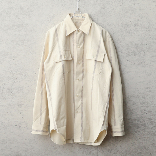 実物 新品 デッドストック イタリア軍 プリズナー ストライプシャツ
