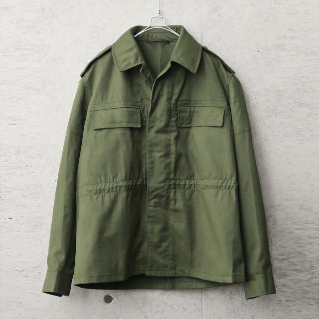 実物 新品 デッドストック チェコ軍 M-85 ジャケット オリーブ バックポケット付き