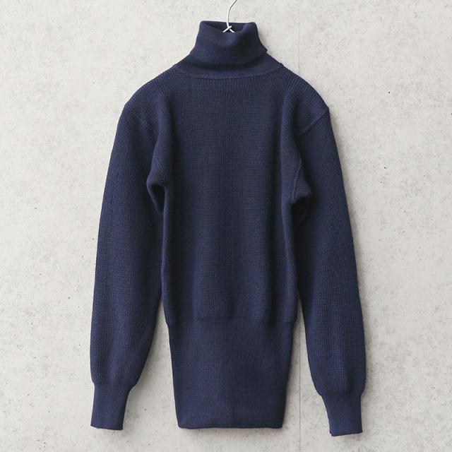 実物 新品 デッドストック イタリア海軍 サブマリン タートルネックセーター