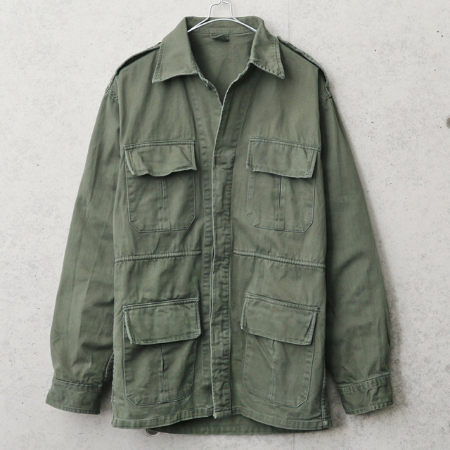実物 USED ギリシャ軍 インバーテッドプリーツ フィールドジャケット