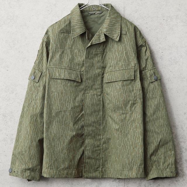 実物 USED 東ドイツ軍 レインドロップカモ フィールドジャケット サイドポケット無し