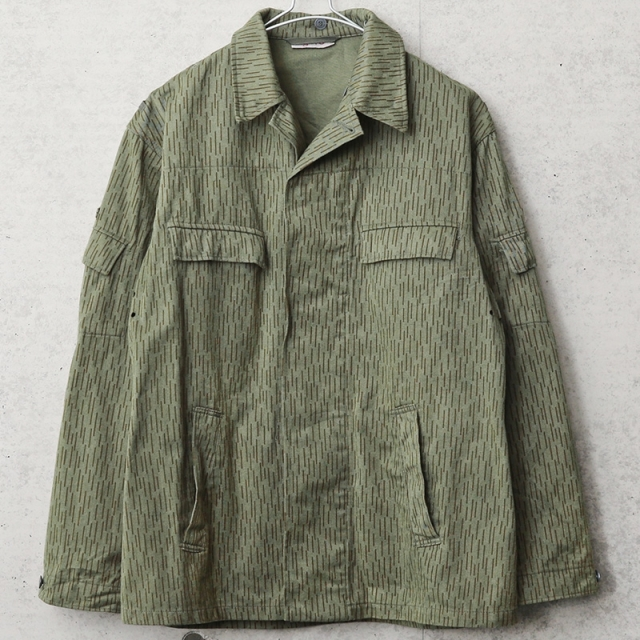 実物 USED 東ドイツ軍 レインドロップカモ フィールドジャケット サイドポケット付き
