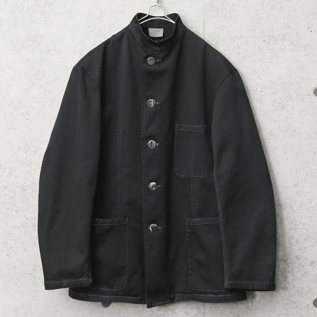 実物 新品 デッドストック イタリア軍 ウェイターズ ジャケット メタルボタン BLACK染め