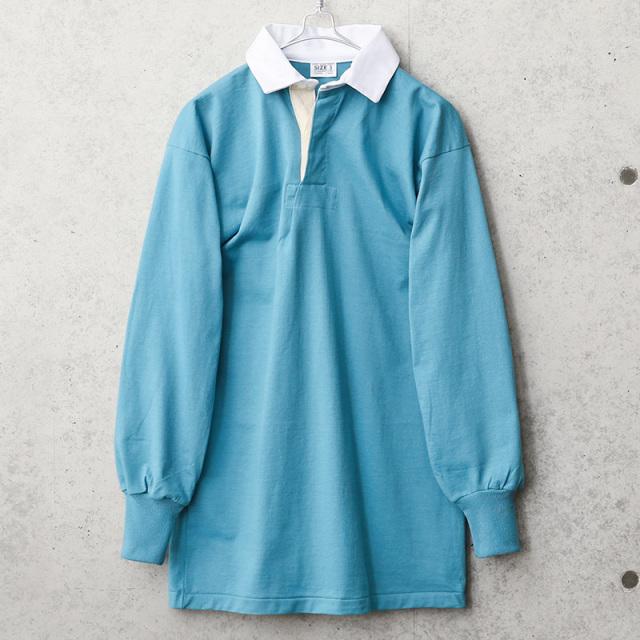 実物 新品 デッドストック イギリス軍 ラガーシャツ ライトブルー