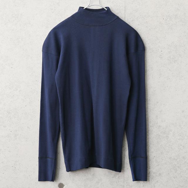実物 新品 デッドストック イタリア海軍 モックネック L/S Tシャツ