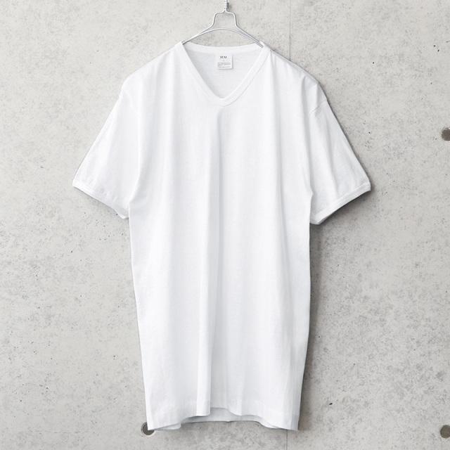 実物 新品 デッドストック イタリア海軍 M.M. S/S Vネック Tシャツ