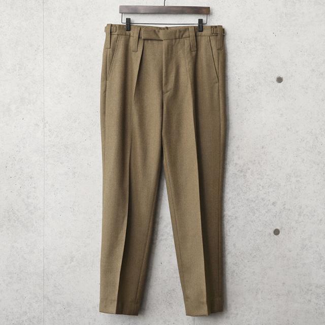 実物 USED イギリス陸軍 ALL RANKS No.2 DRESS ウール トラウザーズ / オフィサーパンツ ブラウン WOOL100%