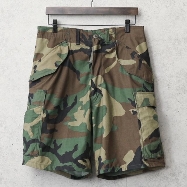 実物 新品 デッドストック 米軍 M-65 フィールドカーゴ ショートパンツ ウッドランド迷彩