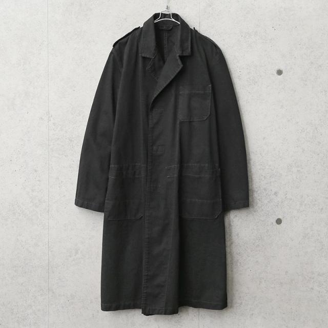 実物 新品 デッドストック オランダ軍 スモックコート ベルクロフロント BLACK染め