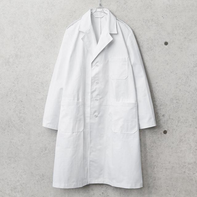 実物 新品 デッドストック オランダ軍 チェンジボタン ホワイト ワークコート