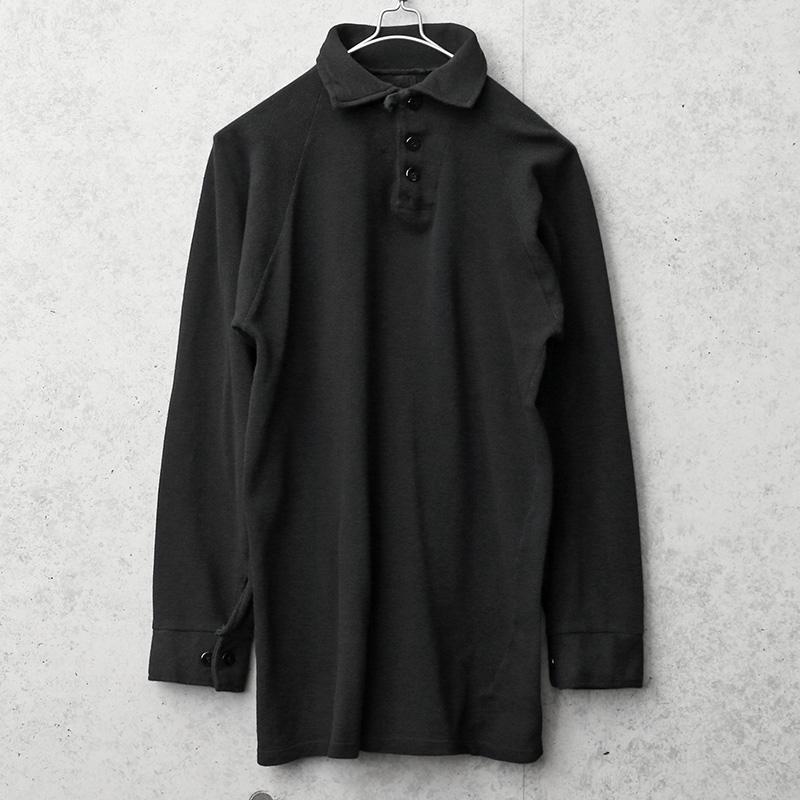 実物 USED デンマーク軍 コットンシャツ BLACK染め