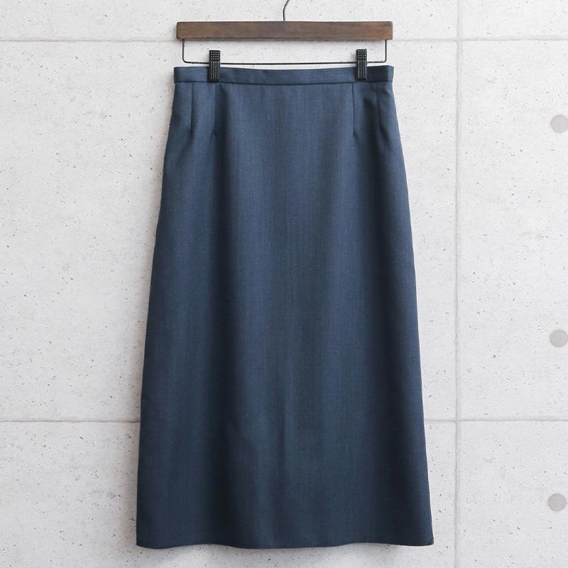 実物 新品 デッドストック イギリス RAF(王立空軍) No.2 DRESS Aラインスカート ネイビー