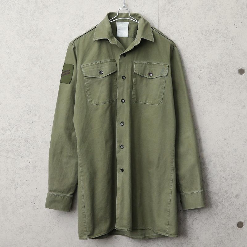 実物 USED イギリス軍 フィールドシャツ オリーブ